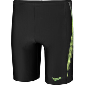 speedo Placement Jammers Herren black/bright zest/oxid grey